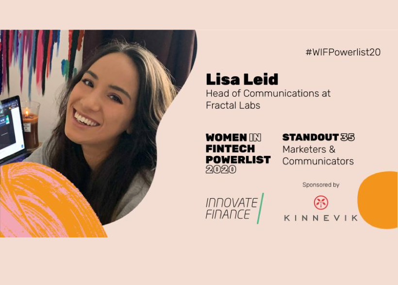Lisa Leid named on Standout 35 on Women in Fintech Powerlist